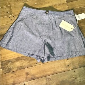🌻Love&Piece Collective Blue Striped Shorts Size M